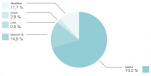 Tržní podíly webových serverů - 2009