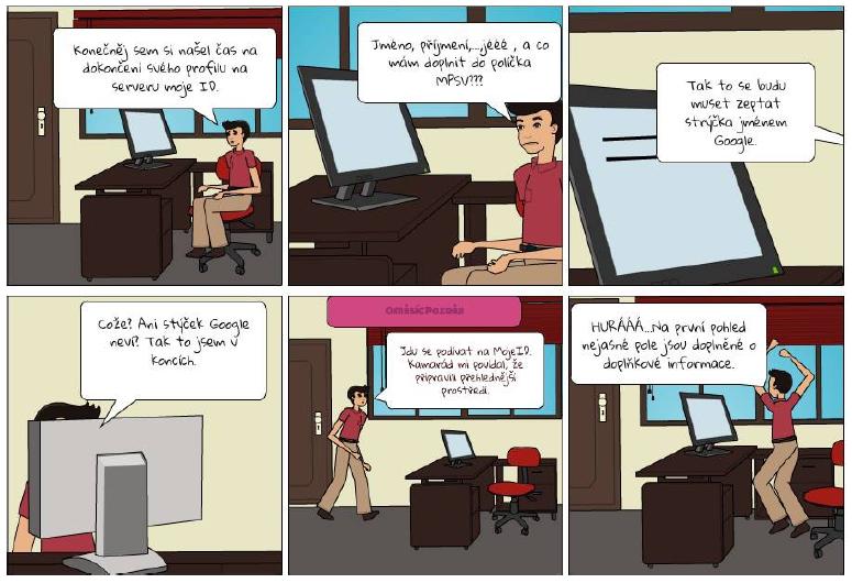 Obrázek - Jeden z mnoha storyboardů, který studenti vytvořili pomocí programu Pixton