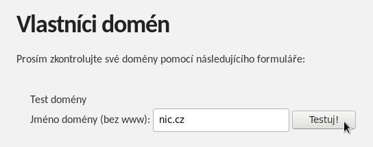 Zadání názvu domény na dnsflagday.net